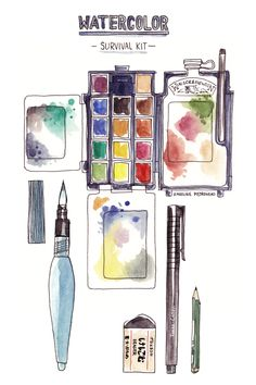 Karoline Pietrowski: All I need to draw outdoor with watercolors.