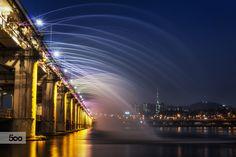 Rainbow Fountain Bridge by Aaron Choi on 500px