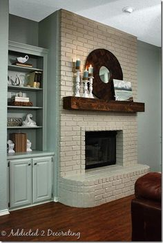 chunky mantel/painted fireplace