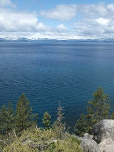 Looking west across Lake Tahoe to the Sierras; near Zephyr Cove, Nevada / http://www.sleeptahoe.com/looking-west-across-lake-tahoe-to-the-sierras-near-zephyr-cove-nevada/