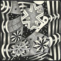 Enthusiastic Artist: Stars 'n' stripes by Margaret Bremner, Certified Zentangle Teacher