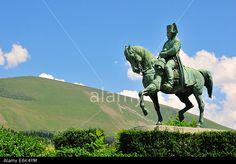 Equestrian statue of Napoleon on the Prairie de la Rencontre outside Laffrey, Route Napoléon, Département Isère, Rhône-Alpes