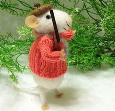 Willy Is A Hunter  A Needle Felted Mouse And by WildWoodHollow, $68.00