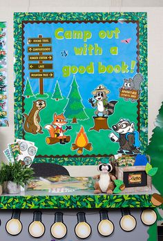 Whether you are looking for a classic woodland look, or ready to jump into an adventure with Ranger Rick, this theme will help bring the great outdoors to your classroom. Your students will be happy campers with Ranger Rick and is adorable animal friends. Forest Theme Classroom, Theme Forest, Classroom Decor Themes, Classroom Ideas, Future Classroom, Classroom Door, Early Childhood Education Programs, Woodland Animals Theme, Teacher Created Resources