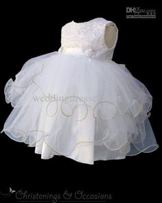 antique christening gowns for baby girls | Actual Image Lovely Organza White Girls Christening Gowns Girls ...