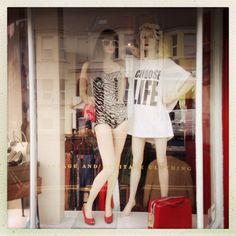 Choose life. 1980s. Bobby & Dandy window display.