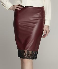 Joins Black Faux Leather Pencil Skirt | Leather, Skirts and Look at