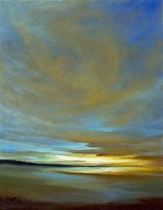 Original art for sale at UGallery.com | Dusk IV by Sheila Finch | oil painting | 14' h x 11' w