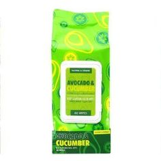Avocado & Cucumber Cleansing Wipes, 60 Count