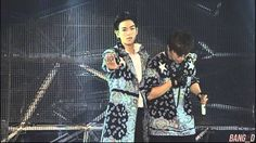 Daesung and TOP on stage