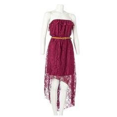 Crochet Ruffle Top Hi-Lo Dress- Jr.