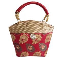 Fashionista red trendy  traditional hand bag(big)(NM207)