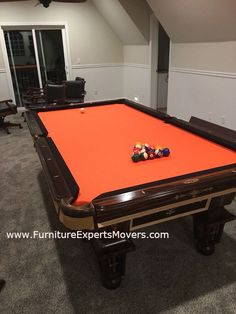 BILLIARD POOL TABLE MOVERS Same Day Service Disassembly - Local pool table movers