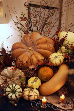 thanksgiving decor. Clusters of harvest to warm a home for Thanksgiving.