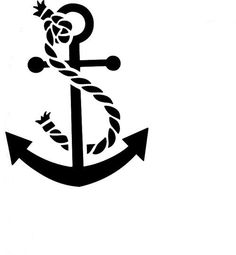 anchor stencil | Rope and Anchor Reusable Stencil by ArtisticStencils on Etsy