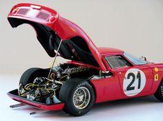 Ferrari 250LM 1965 Le Mans - Climax/MFH 1/24