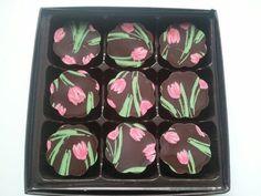 piece Tulip - Vanilla Fleur de Sel Caramel in 72% Dark Chocolate. $ ...