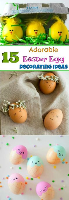 15 Super Cute Easter Egg Decorating Ideas For Kids Easter eggs – Easter egg decorating is one of the best Easter crafts around! Kids will love these colorful eggs and have lots of Easter fun making their own! Minion Easter Eggs, Easter Eggs Kids, Easter Egg Crafts, Coloring Easter Eggs, Easter Food, Easter Recipes, Easter Egg Designs, Easter Ideas, Easter Candy