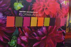 Floribundant - this lavish colour palette is from Pantone's home + interiors…