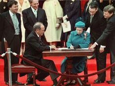 The Queen signs Canada's constitutional proclamation in Ottawa on April 17, 1982 as Prime Minister Pierre Trudeau looks on. With the stroke of a pen by the Queen in Ottawa, Canada had its own Constitution, one of the many notable dates in the history of the country. Canada marks its 147th birthday July 1.