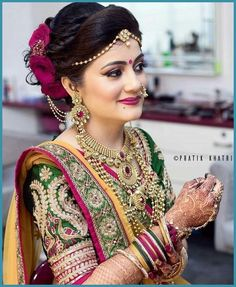Niceeeeeeee Brides In 2019 Indian Wedding Jewelry Indian Niceeeeeeee Brides In 2019 Indian Wedding Jewelry Indian Maharashtrian Bridal Makeup Trends 2019 Makeup Trends 2019 Jewelry Trends Bridal Hairstyle Indian Wedding, Indian Wedding Bride, Bridal Hair Buns, Bridal Hairdo, Indian Wedding Hairstyles, Indian Bridal Fashion, Indian Bridal Makeup, Indian Bridal Wear, Indian Wedding Jewelry