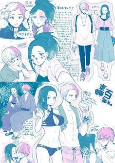 Boku no Hero Academia || Todoroki Shouto || Momo Yaoyorozu