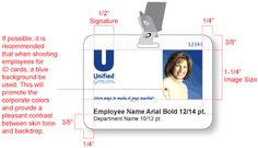 Unified Grocers, Inc. - Employee ID Badge - ID badge artwork should be created as shown. The process in which ID badges are generated may limit the complexity and even the color of the graphics applied.