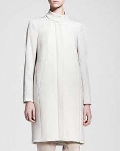 Helmut Lang Apex Seamed Raglan-Sleeve Coat