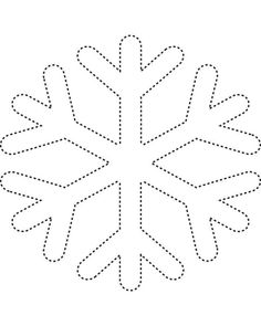 Snowflake template 2 - Free Printable Coloring Pages and other apparel, accessories and trends. Browse and shop related looks. String Art Templates, String Art Patterns, Kids Activity Center, Snowflake Template, Snowflake Pattern, Simple Snowflake, Snowflake Outline, Frozen Snowflake, Snowflake Shape