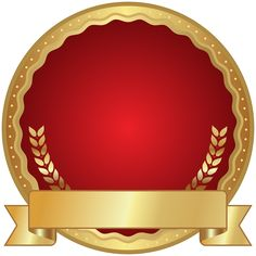 Red Seal Badge Transparent PNG Clip Art