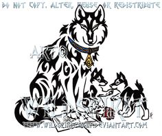 tribal_father_wolf_and_pups_by_wildspiritwolf-d4pnvha.png (600×504)
