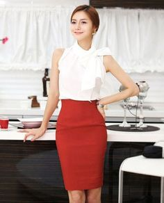Pencil Skirt 2017 Women Plus Size High Waist Slim Hips Candy Color Formal Saias Feminino Lady Classic Knee Length Office Skirts