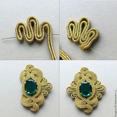 trendy Ideas for embroidery jewelry tutorial soutache earrings Embroidery Fashion, Embroidery Jewelry, Beaded Embroidery, Soutache Pattern, Soutache Tutorial, Fabric Jewelry, Beaded Jewelry, Handmade Jewelry, Soutache Necklace