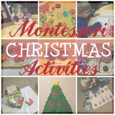 Montessori Christmas Activities for Babies, Toddlers, & Primary (3 - 6)