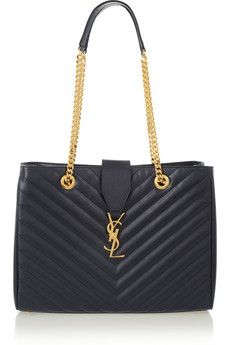 Saint Laurent Monogram quilted leather shoulder bag | NET-A-PORTER