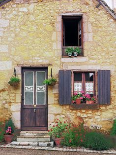 European photo of French house with lace curtains in Provence, France by Dennis Barloga Tudor Cottage, French Cottage, Cozy Cottage, French Country, Provence France, Fine Art Photo, Architecture, Windows And Doors, Nantucket