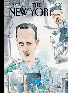 "Revista The New Yorker (EE.UU) - 30 de septiembre de 2013. ""Bad Chemistry"" por Barry Blitt. http://barryblitt.com/stuff/"