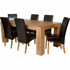 Buy Olney Pine Dining Table And 6 Upholstered Chairs At