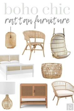 Looking to add the chic boho look to your home? Then you gotta check out this post filled with inspirational rattan furniture and decor! #decor #furniture #rattan #wicker #boho #cane Home Decor Styles, Home Decor Items, Cheap Home Decor, Farmhouse Style Furniture, Modern Farmhouse Decor, Farmhouse Ideas, Find Furniture, Furniture Decor