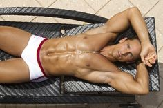 Fitness Model David Morin for T Fabiano Brasil, photographed by Dale Stine.