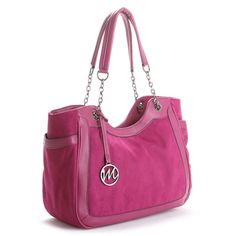 Emilie M Nicole Raspberry Shoulder Bag