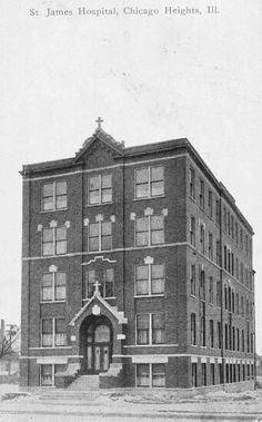 Original St James Hospital Building 15th Street Chicago Heights Illinois