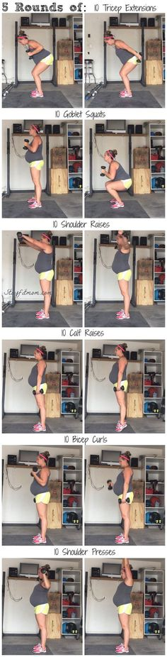 At Home Dumbbell Workout - Stay Fit Mom - Ejercicios para embarazadas - Baby Workout, Prenatal Workout, Pregnancy Workout Plans, Prenatal Yoga, Pregnancy Timeline, Post Pregnancy, Early Pregnancy, Pregnancy Guide, Fun Workouts