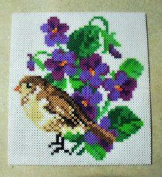 Spring Messenger - BIrd perler beads by MoonFlowersGarden - Pattern: https://www.pinterest.com/pin/374291419009336427/