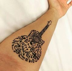 Guitar tattoo                                                                                                                                                                                 More