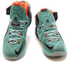 Nike LeBron 12 Turquoise Black-Total Orange For Sale2
