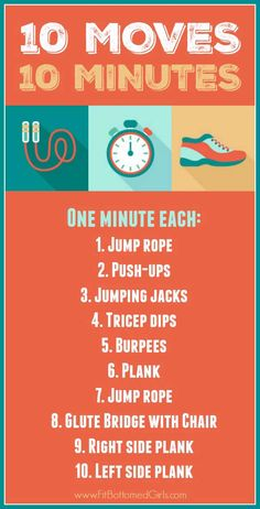 Ten moves in 10 minutes. Another quick workout that's surprisingly challenging! Do it today. | Fit Bottomed Girls