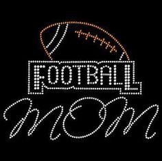 FOOTBALL football Mom Rhinestone Bling Motif Transfer Tshirt Football Mom Rhinestone Bling Design Motif by BlingnPrintStreet on Etsy https://www.etsy.com/listing/465510541/football-football-mom-rhinestone-bling