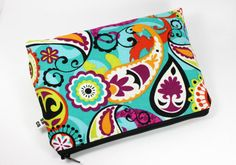 Vibrant Paisley Cosmetic Bag/Clutch/Coupon Holder by SBCompany, $8.00