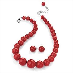 Classic red beads